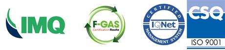 Tergar Manutenzioni è certificata F-Gas, IMQ e CSQ.